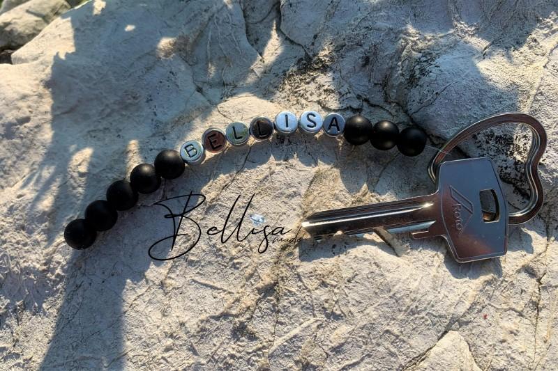 Kľúčenka Bellisa ónyx