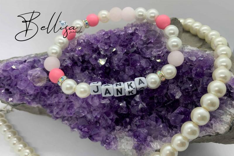 Janka (pearl + cat eyes) + náhrdelník