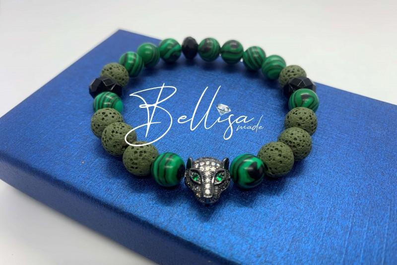 Green Vibes ( zelena lava + malachit )